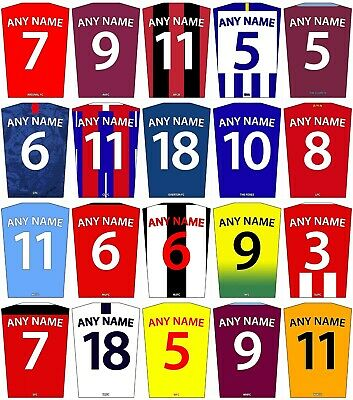 £7.99 • Buy Personalised Football Kit Poster, Custom Name And Number, Wall Art, All Sizes