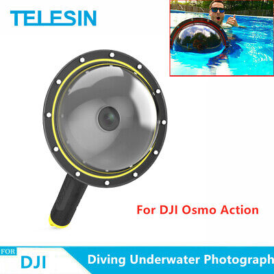 AU47.18 • Buy TELESIN 6  Dome Port Waterproof Case For DJI Osmo Action Camera Underwater Dive