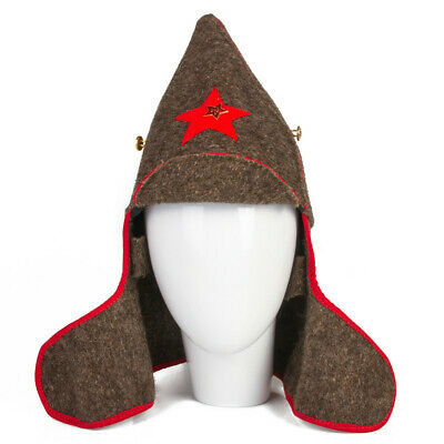£13.42 • Buy Budenovka Buddeny Cap Red Army Soviet Cavalry Military Hat W/ Red Star Pin USSR