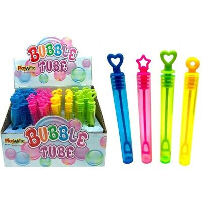 £3.49 • Buy Kids Bubble Tubes 11cm Girls Boys Party Bag Fillers Childrens Wedding Favour Toy