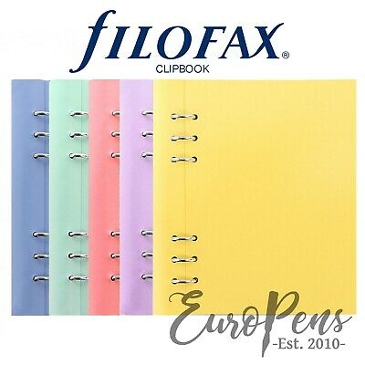 Filofax  Clipbook  Leather-Look A5 Refillable Notebook - Choose Pastel Colour • 17.95£