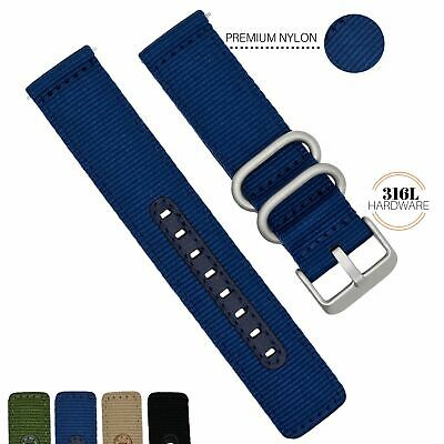 $10 • Buy 18MM 20MM 22MM Nylon Watch Band Quick Release Military Universal Fit And Seiko 5