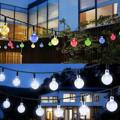 30 LED Solar Powered Garden Party Fairy String Crystal Ball Lights X'mas Ace • 8.79£