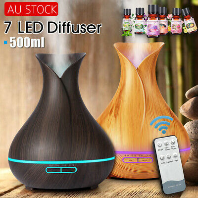 AU13.99 • Buy Aromatherapy Diffuser Essential Oil Ultrasonic Air Humidifier Aroma LED Purifier
