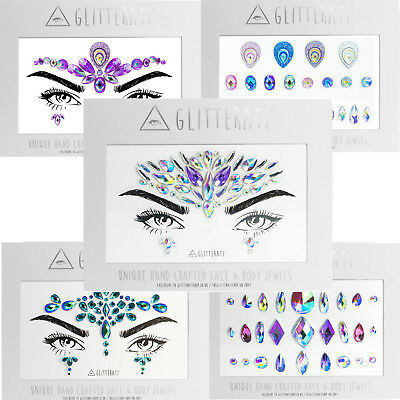 Face Gems Adhesive Glitter Jewel Tattoo Sticker Festival Rave Party Body Make Up • 3.49£