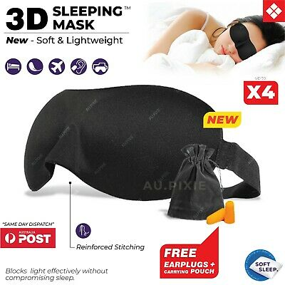 AU2.10 • Buy 3D Sleeping Eye Mask Blindfold Sleep Travel Shade Relax Cover Light Blinder 💤