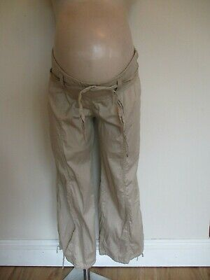 £6 • Buy Tete A Tete Maternity Sand Under Bump Cargo Shorts 3/4 Trousers Size 10