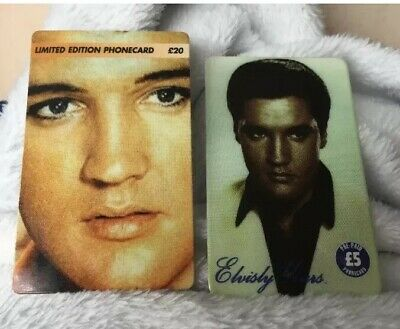 Old Phone Cards Of Two Rare Elvis Presley • 29.99£