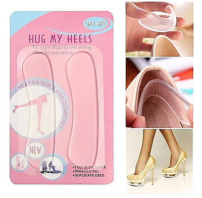Transparent High Heel Silicone Gel Pads Shoe Insole Protector For Heels • 2.19£