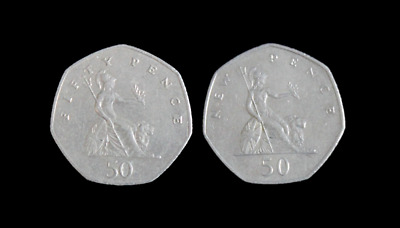 £2.49 • Buy Large Old Style Britannia 50p Fifty New Pence Coin Hunt - Choose Your Date