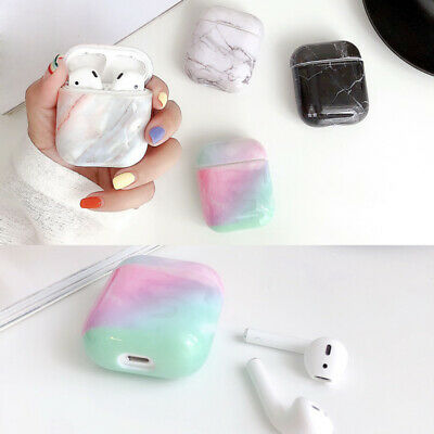 $ CDN4.01 • Buy Marble Pattern Earphone Protector Hard Case Cover For Apple Airpods 2nd 1st