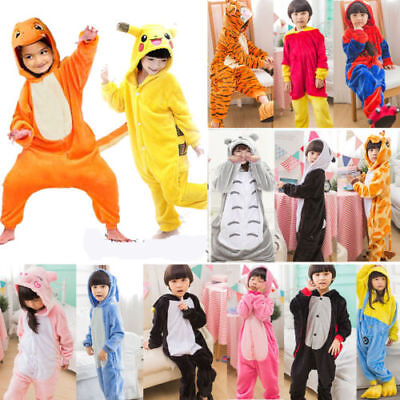Kids Costume Fancy Dress Cosplay Onsie10 Child Unisex Hooded Animal Pajamas UK • 7.99£