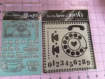 £7.95 • Buy New Hunkydory For The Love Of Stamps & Masks (stencils) Set. A Phone Call Away