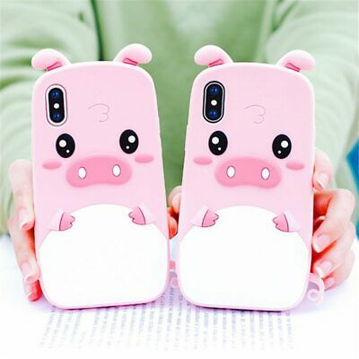 AU11.52 • Buy Cute Case PIG Pink Nose Lovely Cover Phone For IPhone 6 7 8 XS XR 11 12 Pro Max