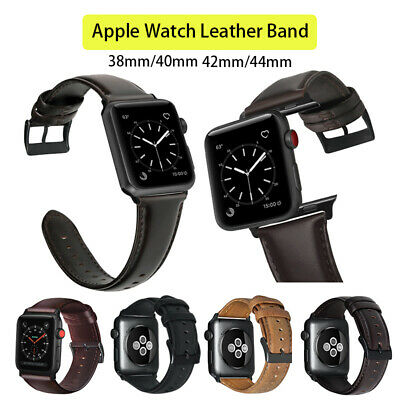 AU14.95 • Buy Genuine Leather Band Wrist Formal Business FOR APPLE WATCH IWATCH SE/6/5/4/3/2/1