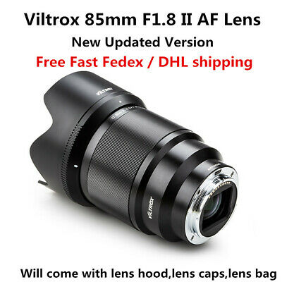 $ CDN543.44 • Buy Viltrox 85mm F1.8 Auto Focus STM Lens For Sony E-Mount A9 A7R2 III A6400 A7M3 II