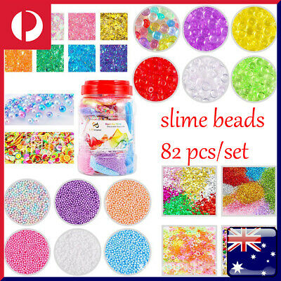 AU25.99 • Buy 82Pcs Kit Set Slime Supplies Slime Beads Balls Charms Slices Children DIY Tools