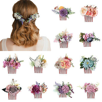 $1.82 • Buy Women's Flower Hair Comb Slide Clips Pins Wedding Bridal Hair Accessories Party