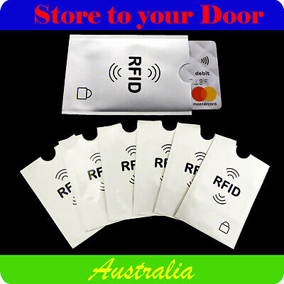 AU3 • Buy RFID Credit Card Blocking Sleeve Secure Protector Anti Theft Scan Wallet Insert