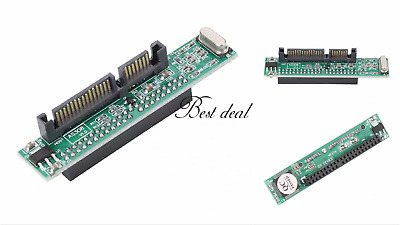 2.5  IDE 44 Pin Female To 22 (7+15) Pin Male Converter HDD SATA Adapter UK New • 5.99£