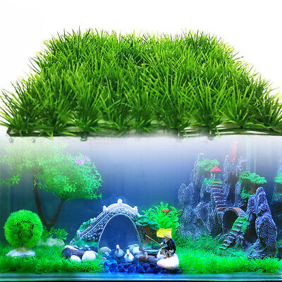 Artificial Fish Tank Plant Landscap Water Aquatic Aquarium Fake Grass Decor Lawn • 3.59£