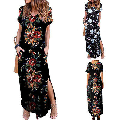 AU17.76 • Buy ZANZEA 8-24 Women Summer Maxi Kaftan Abaya Party Beach Club Printed Floral Dress