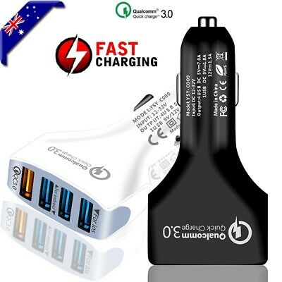 AU9.95 • Buy Universal 4 Port USB QC3.0 Fast Charging Car Charger For Galaxy Note 10 Plus 8 9