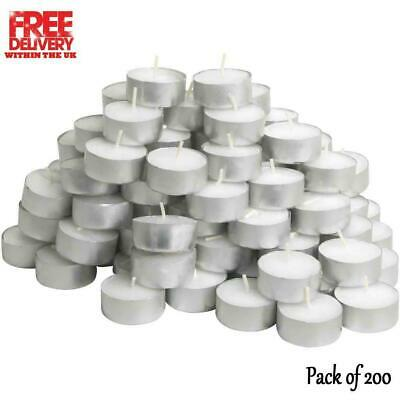 IKEA GLIMMA 38mm Unscented Tealight Candles 200 Pack 4 Hours Burning Time White • 11.99£