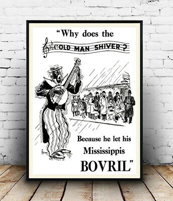 £10.99 • Buy Bovril , Vintage Beef Drink Advertising , Poster, Wall Art, Reproduction