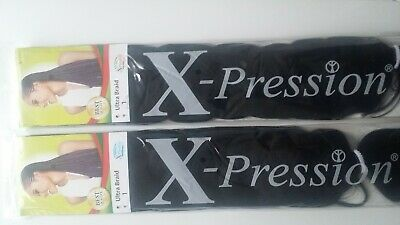 1 X Xpression Premuim Ultra Braids Plaits Twist Expression Hair Extension  • 4.49£
