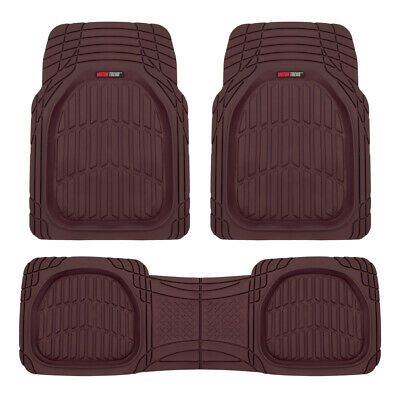 $35.90 • Buy Burgundy Deep Dish Rubber Car Floor Mats For Auto 3-Piece All Weather Liners