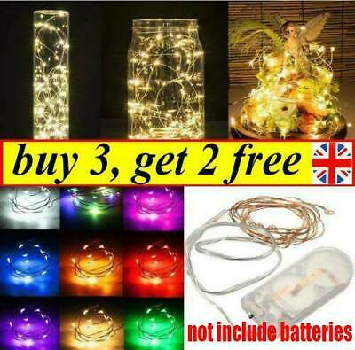 100 LED Micro Copper Wire Fairy String Lights Battery Powered Xmas Lamp Decor UK • 1.62£