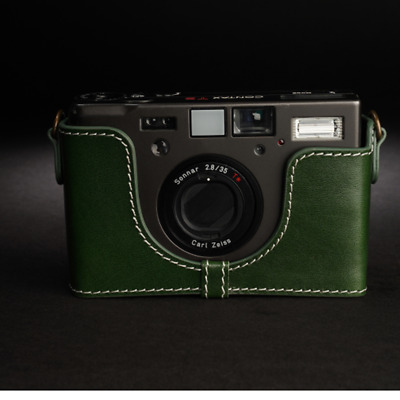$ CDN71.08 • Buy Fit  For CONTAX T3 Half Case Bags Covers Handmade Genuine Real Leather Camera AA