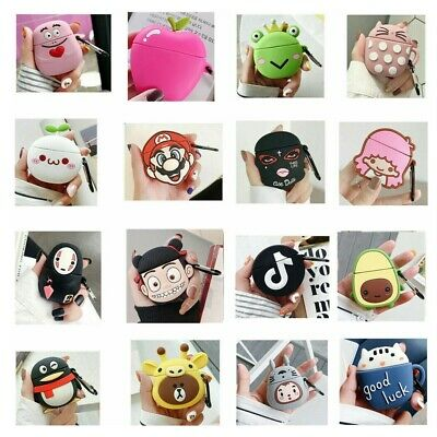 $ CDN6.03 • Buy Airpods Case 3D Cartoon Kids Cover Skin Case For Apple Airpods 2 1 Charging Case