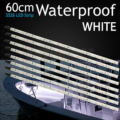 AU24.99 • Buy 8Pcs 60cm LED Strip Light Waterproof Marine Boat Yacht Speed Bass Bar 12V White
