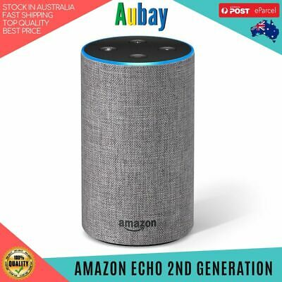 AU138.50 • Buy Amazon Echo 2nd Generation Heather Grey Smart Speaker Assistant Alexa Brand New