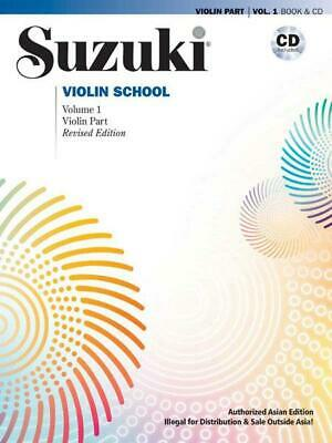 AU25.95 • Buy Asia/Suzuki Violin 1 Rev/Bk And Cd Learn To Play Violin MUSIC BOOK & CD