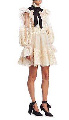 New Zimmermann Design Eye SPY Bow TIE Runway MINI Dress US 0 | 1 | 2 • 345$