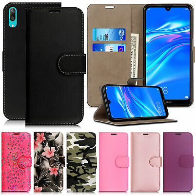 Case For Huawei Y5 Y6 Y7 9 2019 Wallet Leather Cover Flip Stand Phone Protective • 2.99£