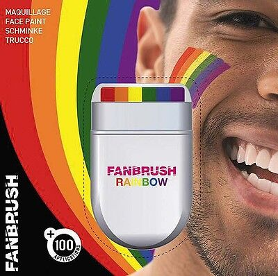 Rainbow Paint FANBRUSH RAINBOW FLAG Gay Pride FACE & BODY PAINT PAINTS PAINTING • 2.90£