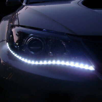 $ CDN6.06 • Buy 2x White Car Decor 12V 12 LED 30cm 5050 SMD Strip Flexible Light Car Accessories