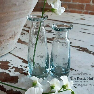 Small Clear Glass Bud Vase, Sturdy Vintage Style - 11cm Or 13cm • 4.50£