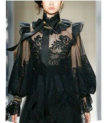New Zimmermann Design Eye SPY Bow TIE Runway Black MINI Dress US 0 | 1 | 2 • 345$