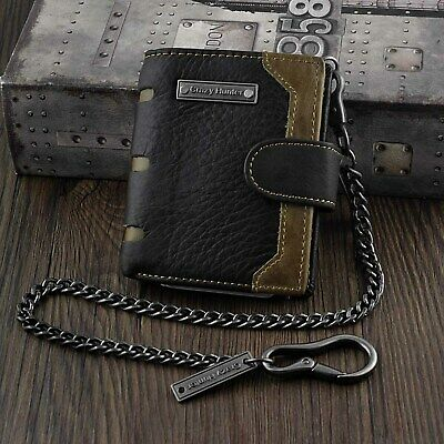 £18.46 • Buy Mens Fashion Snap Biker Rocker Leather Wallet With Pants Chain