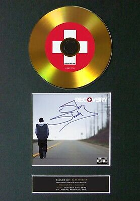 EMINEM Recovery Mounted Signed Autograph GOLD CD Print A4 #113 • 12.49£