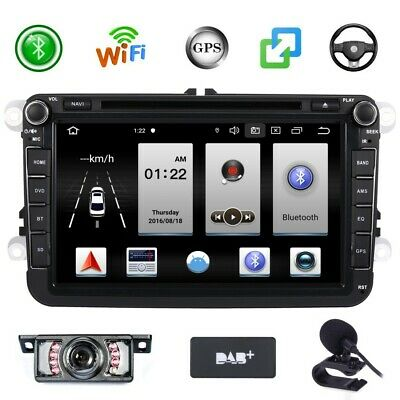 £212.99 • Buy Android 10 DAB+ Car Stereo GPS Sat Nav Canbus Map RDS For VW Golf MK5 Seat Skoda