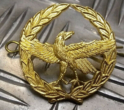 Genuine Military Issue Zambian Air Force Eagle Insignia Metal Hat Badge - NEW • 4.99£