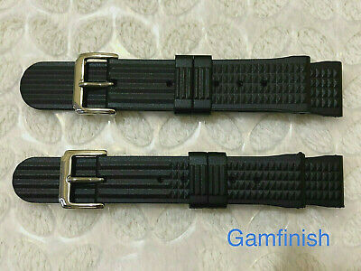 22mm 20mm Waffle FKM Black Rubber Watch Strap For Divers Watch Top Quality Band • 12.95£