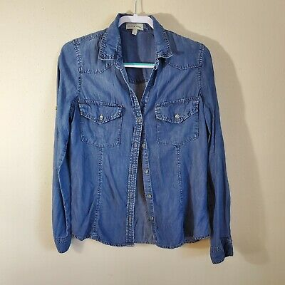 $ CDN37.12 • Buy Anthropologie Cloth And Stone Denim Button Down Long Sleeve Size Large