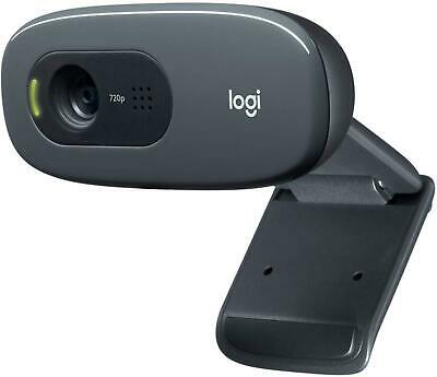AU69.95 • Buy Logitech Plug And Play C270 HD WebCam Camera For Desktop PC With Built-in Mic